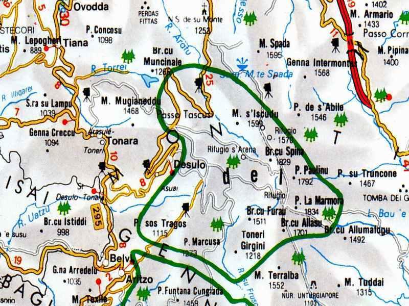 Cartina Sardegna Tonara.Tonara